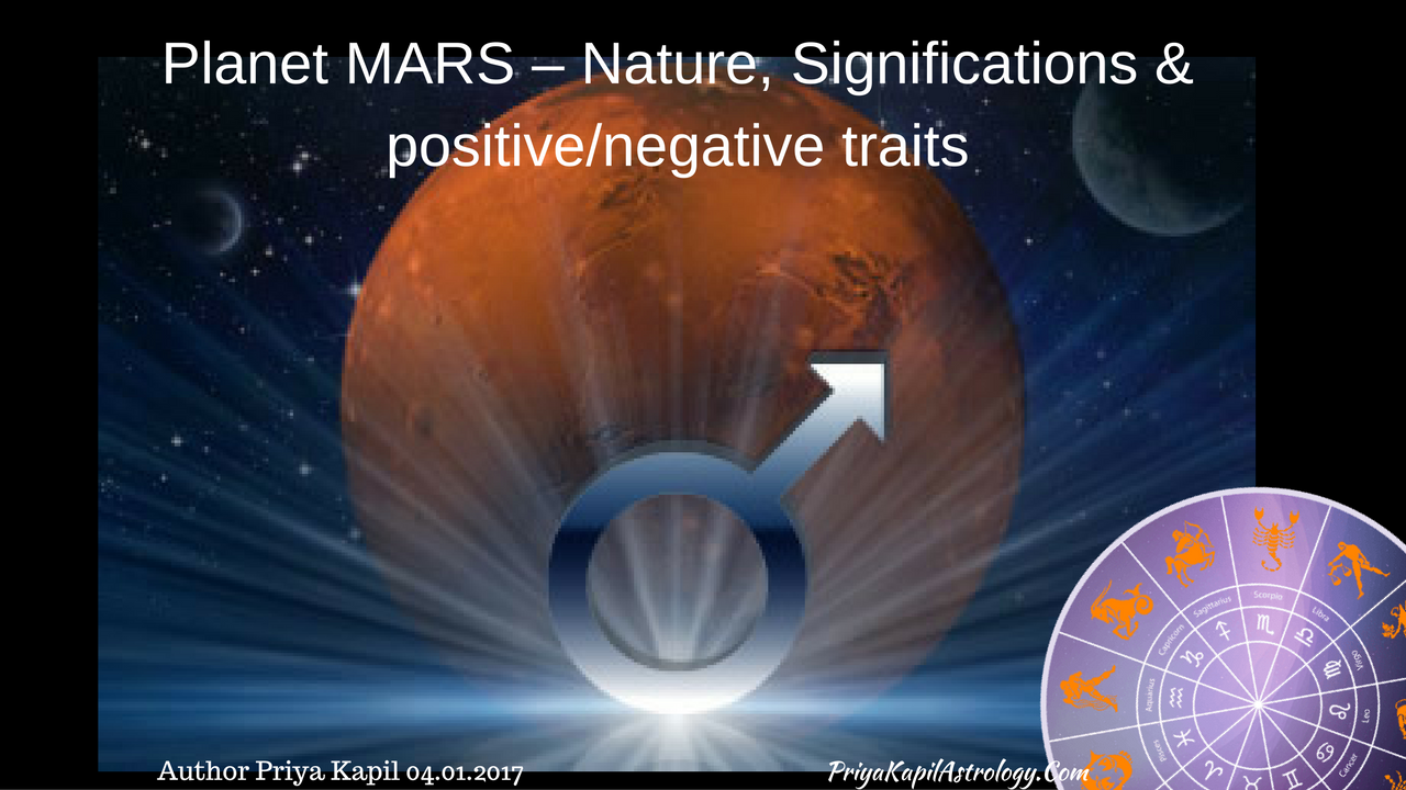 Planet MARS – Nature, Significations & positive/negative
