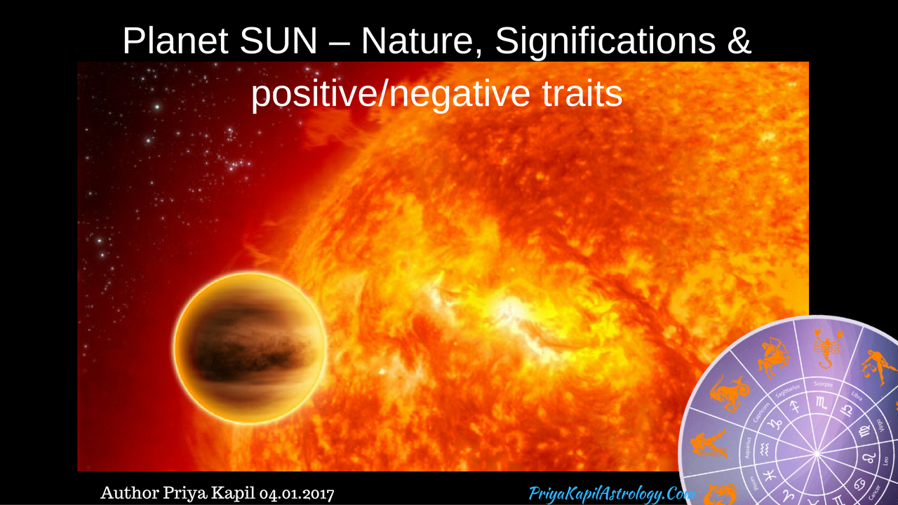 Planet SUN – Nature, Significations & positive/negative
