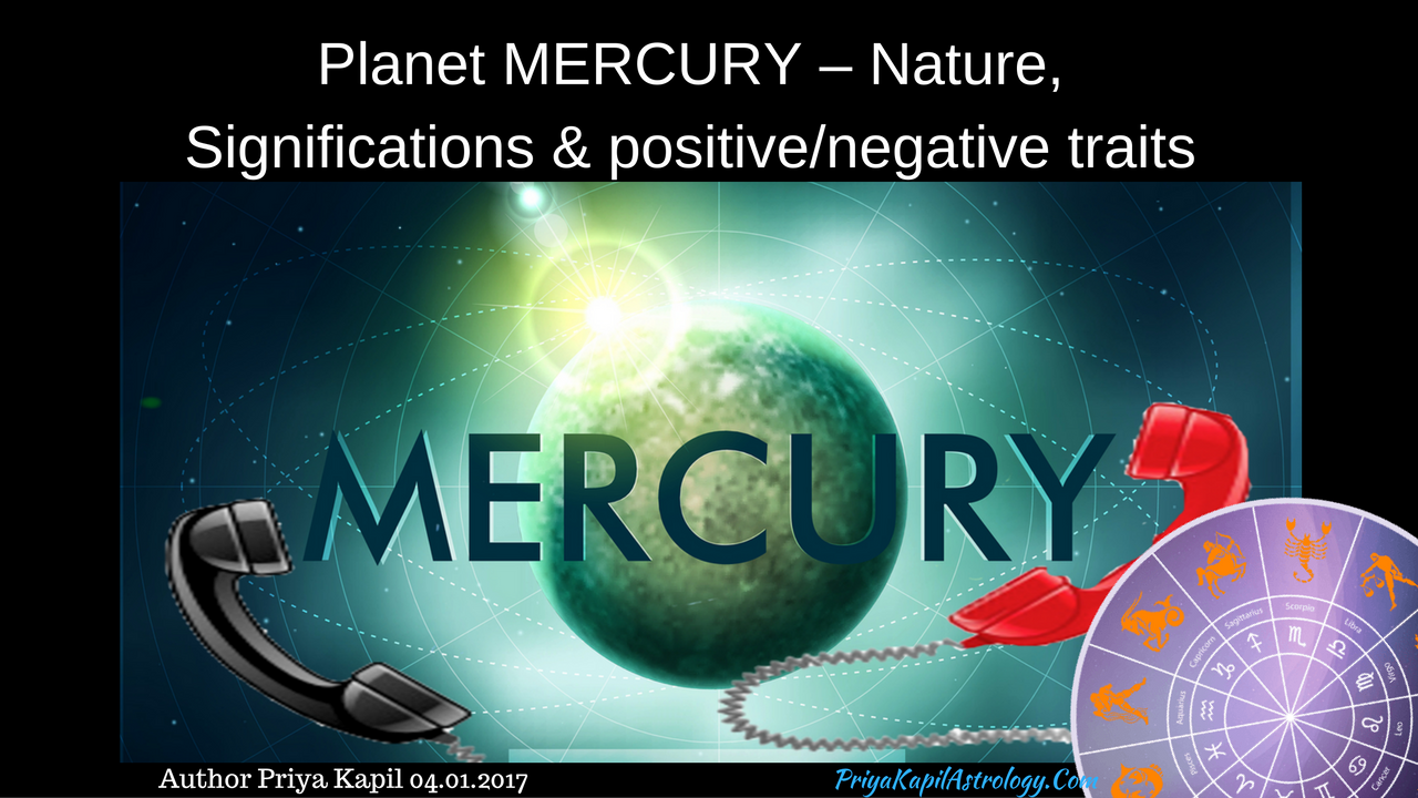 Planet MERCURY – Nature, Significations & positive/negative
